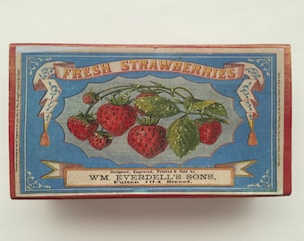 Fresh Strawberries Altered Matchbox