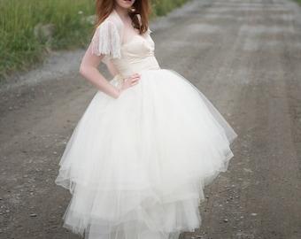 Tulle Skirt // Bridal Separates // for two piece wedding dress // short, long or tea length // Tulle Wedding Dress