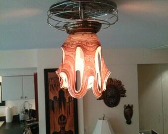 Unusual and Unique Sculptural Glass Light Fixture