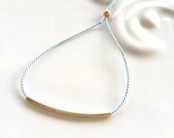 Bar Bracelet - Silk string - Gold Bar bracelet - Silver Bar bracelet - delicate bar bracelet - Minimalist bracelet - Dainty everyday jewelry