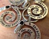 """Runner's """"She Believed"""" swirl key ring"""