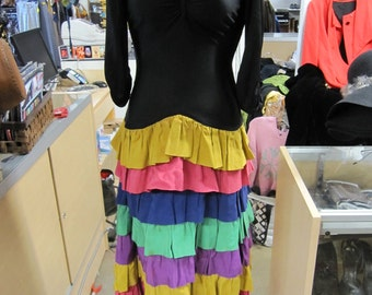 1950s Dress // 50s Clothing // Bohemian Clothes // Mexican Dress // Dia De Los Muertos // Hispanic // XXS XS SMALL