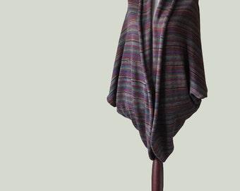 Women cardigan, knit sweater, multicolor poncho, wrap sweater, women sweater, knit cape, wool sweater, open cardigan,knit poncho, wrap cape