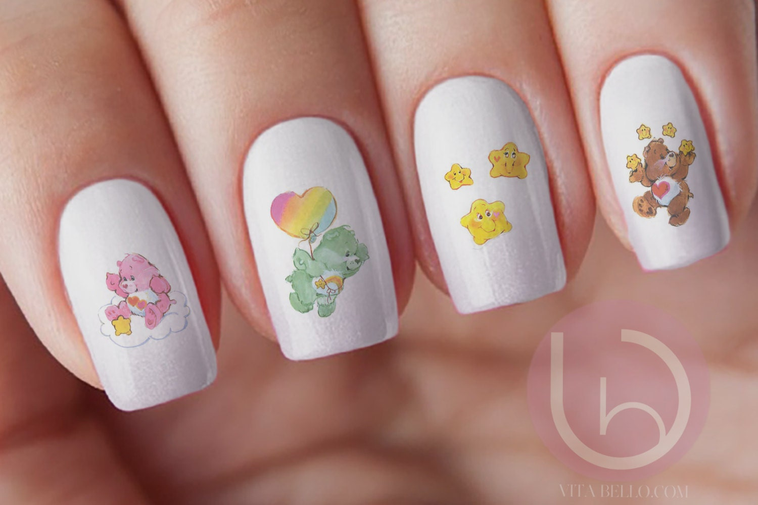 Care bear waterslide nail decal nail design nails press on zoom prinsesfo Image collections