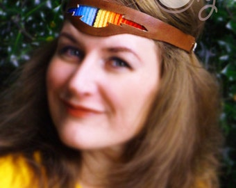 Handmade Leather Headband, Leather Headband, Hippie Serape Headband, Festival Headband, Boho Headband, Serape Headband, Colorful Headband