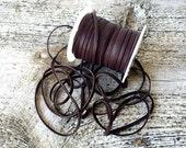 """Deerskin Lace - 1/8"""" Chocolate Deerskin Leather Lace BY THE YARD - 3 Feet x 3mm - Ties - Bead - Dark Brown Deer Skin Leather Craft Supplies"""