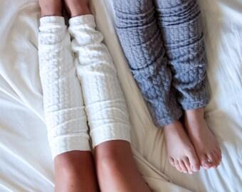 Cozy Leg Warmers- White