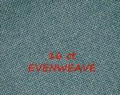 Steel Blue, 16 count, 1980s Vintage, Evenweave Needlework Cloth, Camelot Fabrics, Plush, 12 x 18