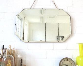 Vintage Art Deco Bevelled Edge Wall Mirror