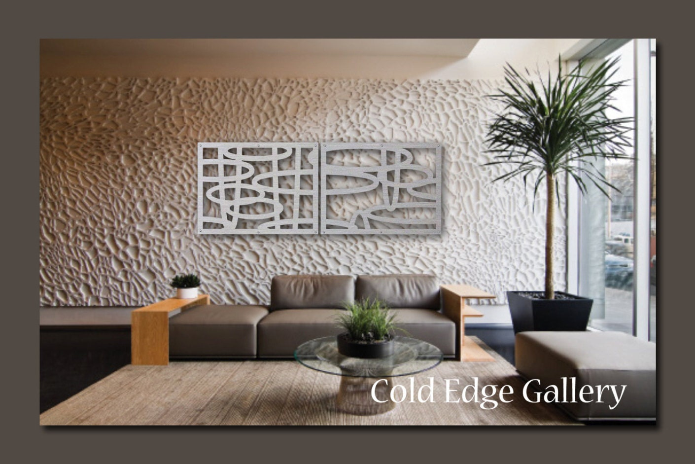 Extra large metal wall art office decor abstract for Office wall art