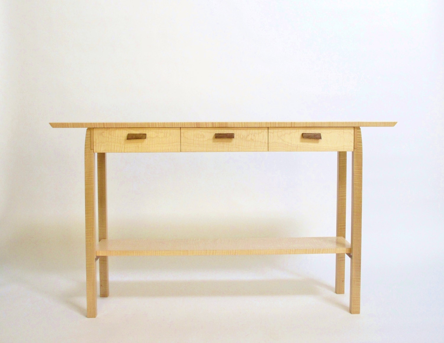 Three Drawer Entry Table For Hallway Console Table With