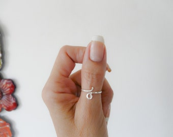 Thumb Ring//Sterling Silver Ring//Women Rings//Handmade Jewelry for Her