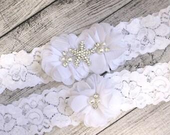 Your Color, Beach Wedding Starfish Garter Set ,Wedding Garter Set ,Bridal Garter, Garters for Wedding , Garter ,Lace Garter