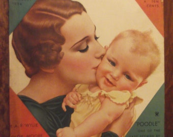 DELINEATOR MAGAZINE COVER January 1934 Issue Ready To Frame