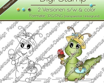 Digi Caterpillar stamp set - ice / E0017