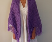 Hand knitted shawl - knitted long shawl - strickschal