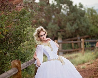 Organza & Satin Ballgown/Wedding Dress