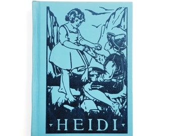 Heidi • Johanna Spyri •  illustrations by Clara Burd • Winston Clear Type Popular Classic • 1924 blue hardcover