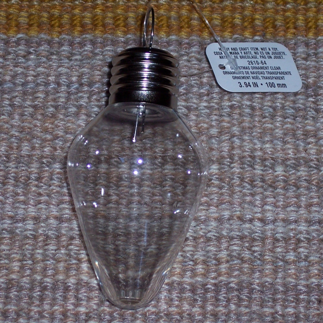 plastic light bulb craft ornament100mmappx inch