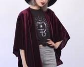 Plum Velvet Kimono