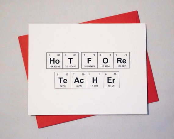 Valentines Day Hot for Teacher Periodic Table of the