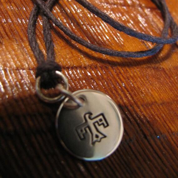 Sterling Silver and Natural Hemp Pendant Necklace Thunderbird Handmade- Toniraecreations