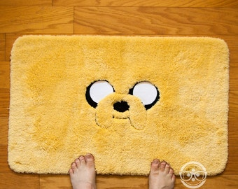 "Adventure Time ""Jake"" Inspired - Embroidered Bath Mat or Rug"