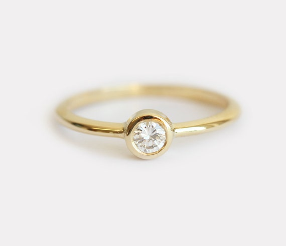 Delicate Diamond Ring Delicate Engagement Ring Simple