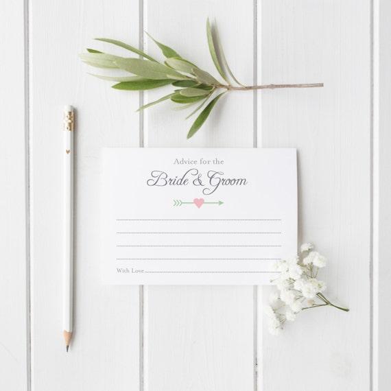 wedding advice cards template bridal shower game ideas bachelorette