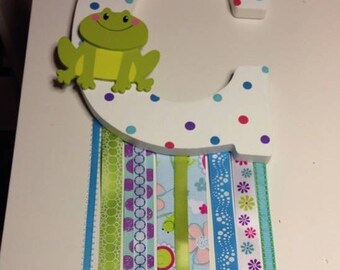 Custom Made Barrette Holder: Frog