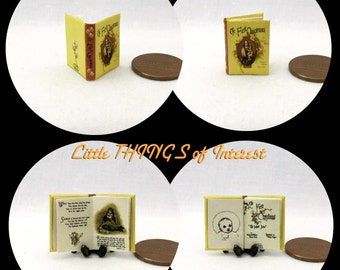 THE FIRST CHRISTMAS  Miniature Book Dollhouse 1:12 scale Readable Illustrated Book