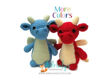 Crochet Dragon | Crochet Animals | Crochet Toy | Dragon Gift | Dragon Toy | Mythical Creature  | Custom Made to Order