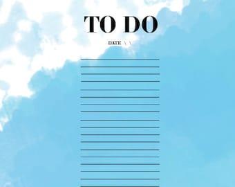 Sky's The Limit Printable To Do List