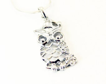 Sterling Silver Owl Pendant // Owl pendant // Owl necklace // Owl lover // Owls // Owl necklace // Owl Jewelry and Accessories