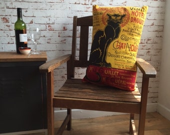 Le Chat Noir [Theophile Alexandre Steinlen] - Throw Pillow cover
