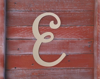 "Large Wooden Letters Unfinished, Unpainted, Decorative Font -- Perfect for Crafts, DIY, Nursery, Kids Rooms, Weddings – Sizes 1"" to 42"""