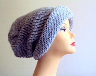 Oversized Beanie Knit Baggy Hat Super Slouchy Chunky Hat Fashion Accessories  Gift For Her/Him
