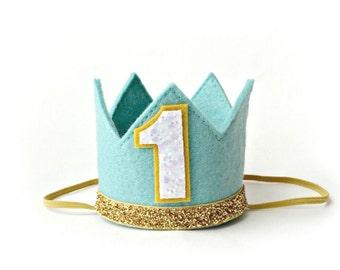 First Birthday Crown Boy, First Birthday Crown, Birthday Crown, Boy Crown,  First Birthday Boy Hat, Birthday Crown Headband