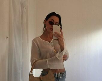 vntg Authentic GUCCI Monogram Bardot Shoulder Bag