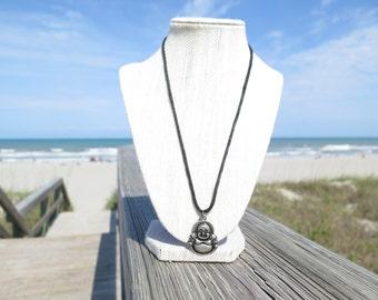 Happy Buddha Cord Necklace