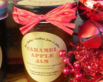 Holiday Jam Gift Box - Christmas Jam Sampler - Four (8oz) Jars of Jam in a Holiday Gift Box - Personalized Label