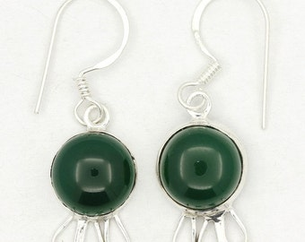 New Green Onyx 925 Sterling Silver Earrings Fashion Jewelry A1822