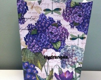 Made to Order-Handmade Decoupage Wood Wastebasket-Choose Your Design