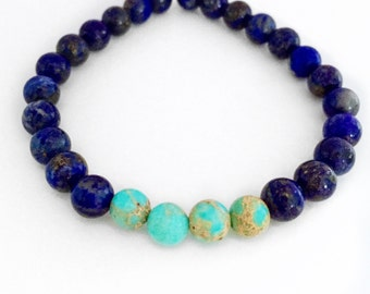 Mala Bracelet,Wrist Mala,Yoga Bracelet,Stacking Beads,Mala,Blue Lapis Bracelet,Blue Mala Beads Bracelet,Blue Mala Bracelet,Gift for him,BMLJ