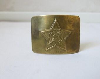 COMMUNIST sovjet union brass metal belt BUCKLE vtg