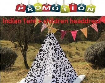 tipi / tepee / tipi / teepee Tent + Children Headdress