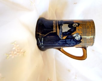 Antique circa 1902, Mug/Tankard/Stein, Monks In The Cellar by Royal Doulton, Blues and Browns
