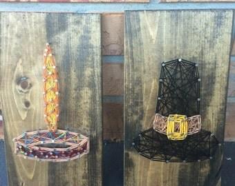 Thanksgiving String Art Set - Piligrim String Art - Indian String Art