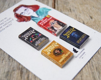 Shirley Jackson's miniature book magnets set
