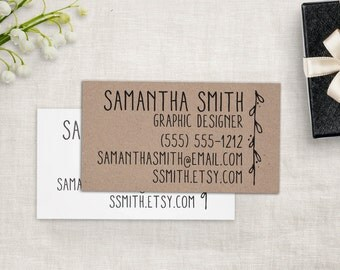 Business Card Stamp - Custom Business Cards or Etsy Shop Stamp, Custom Stamp by Sayabell Stamps.